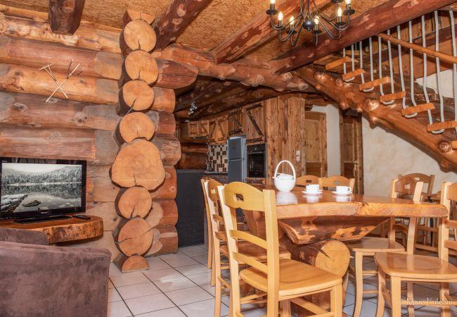 Chalet à La Bresse - 8. BA  Magnifique chalet rondins 130m², 4ch, 8/10p